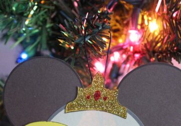 belle mickey ears ornament