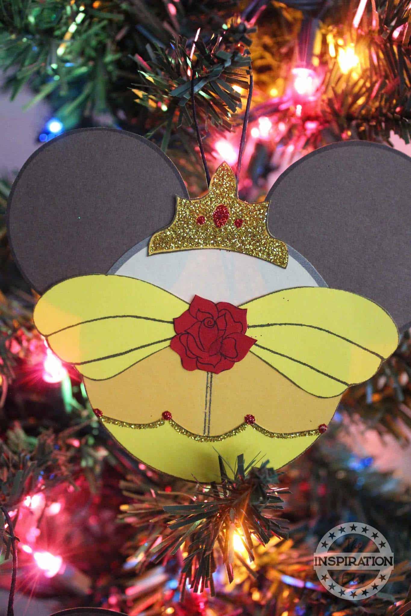 belle mickey ears ornament