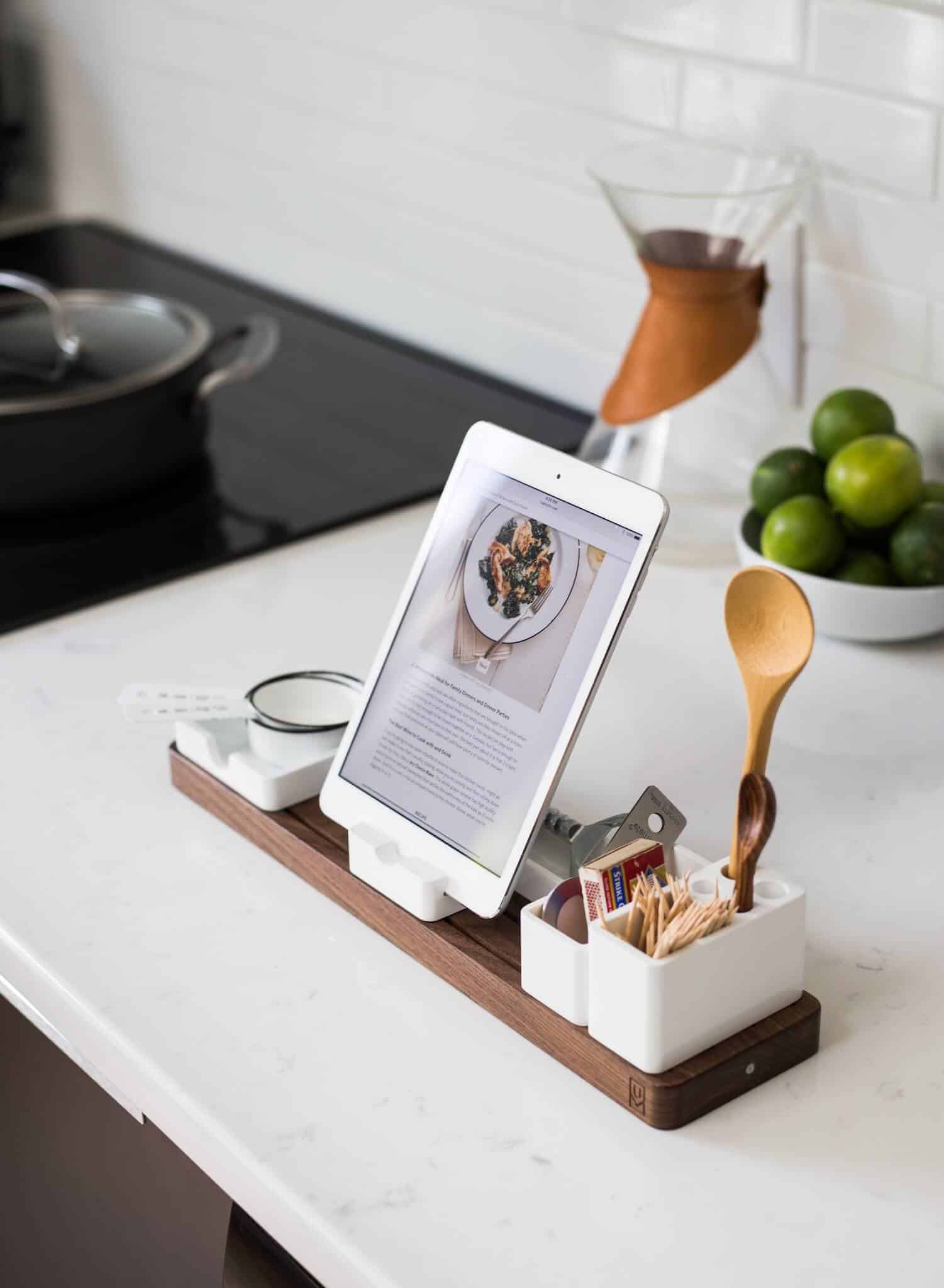 Ipad-recipe-Stand | Friendly Kitchen Upgrades