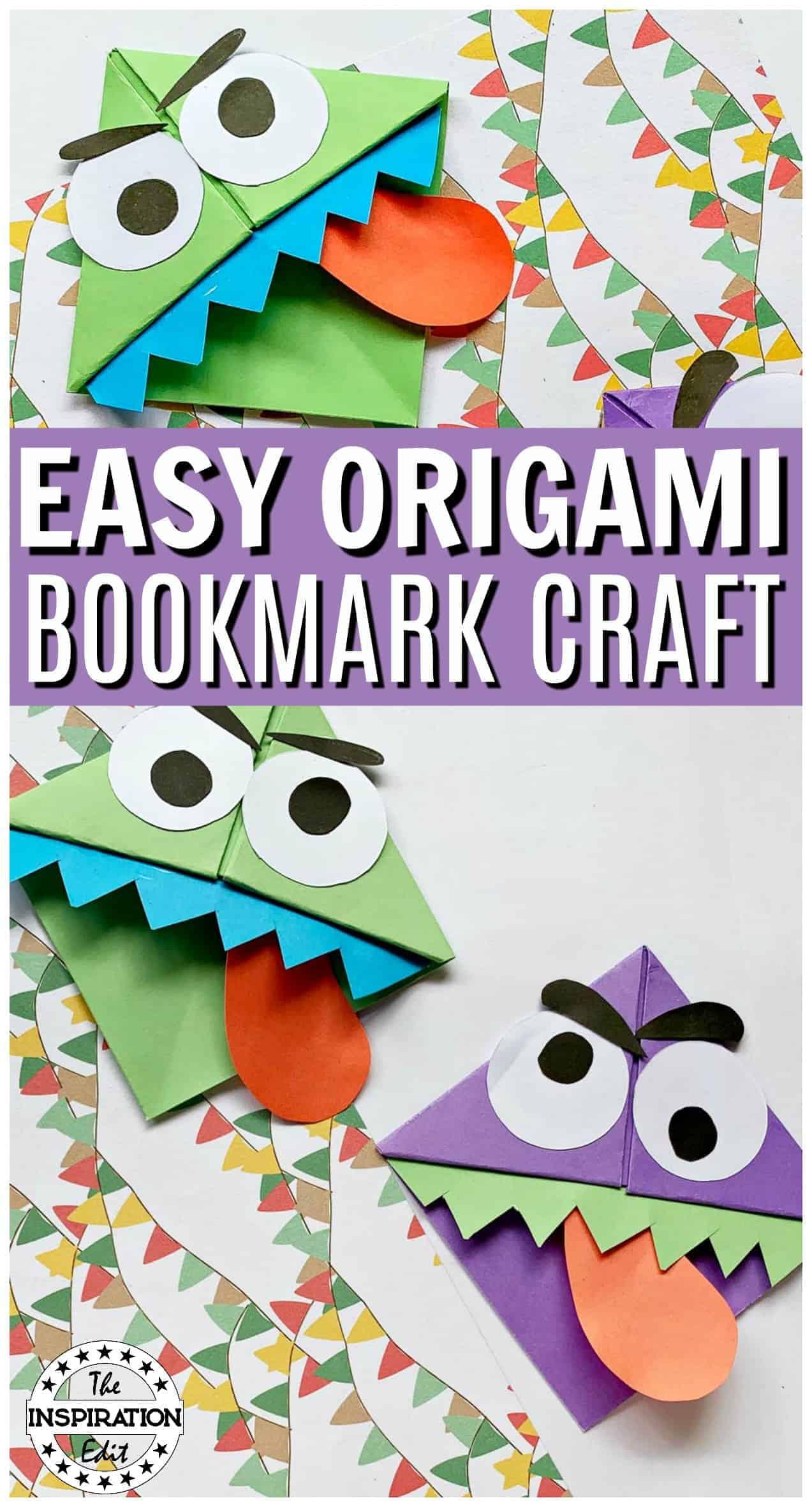 easy corner bookmark tutorial for kids to enjoy