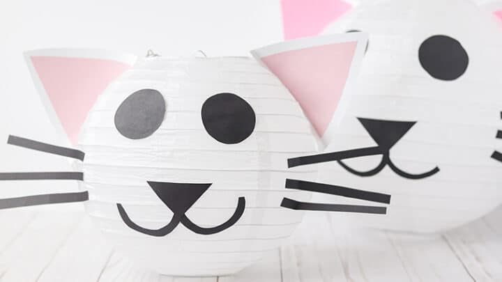 diy paper lantern for a cat party
