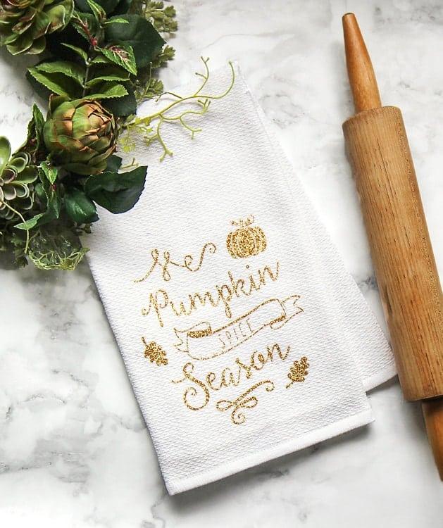 pumpkin spice tea towel