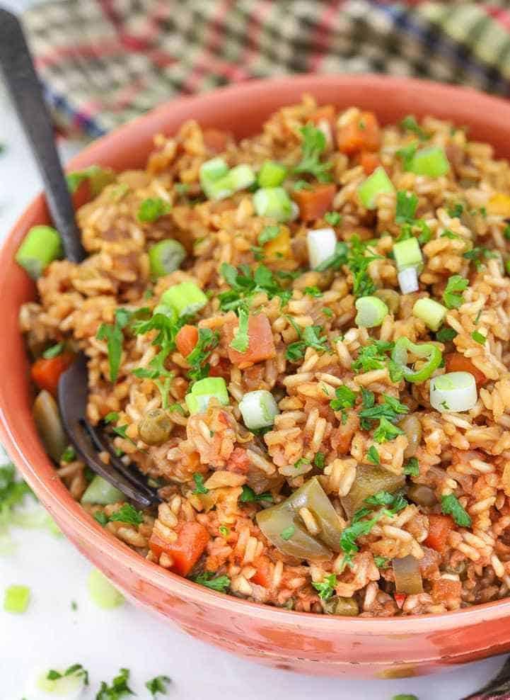 instant-pot-rice-vegetables-teriyaki-sauce-2