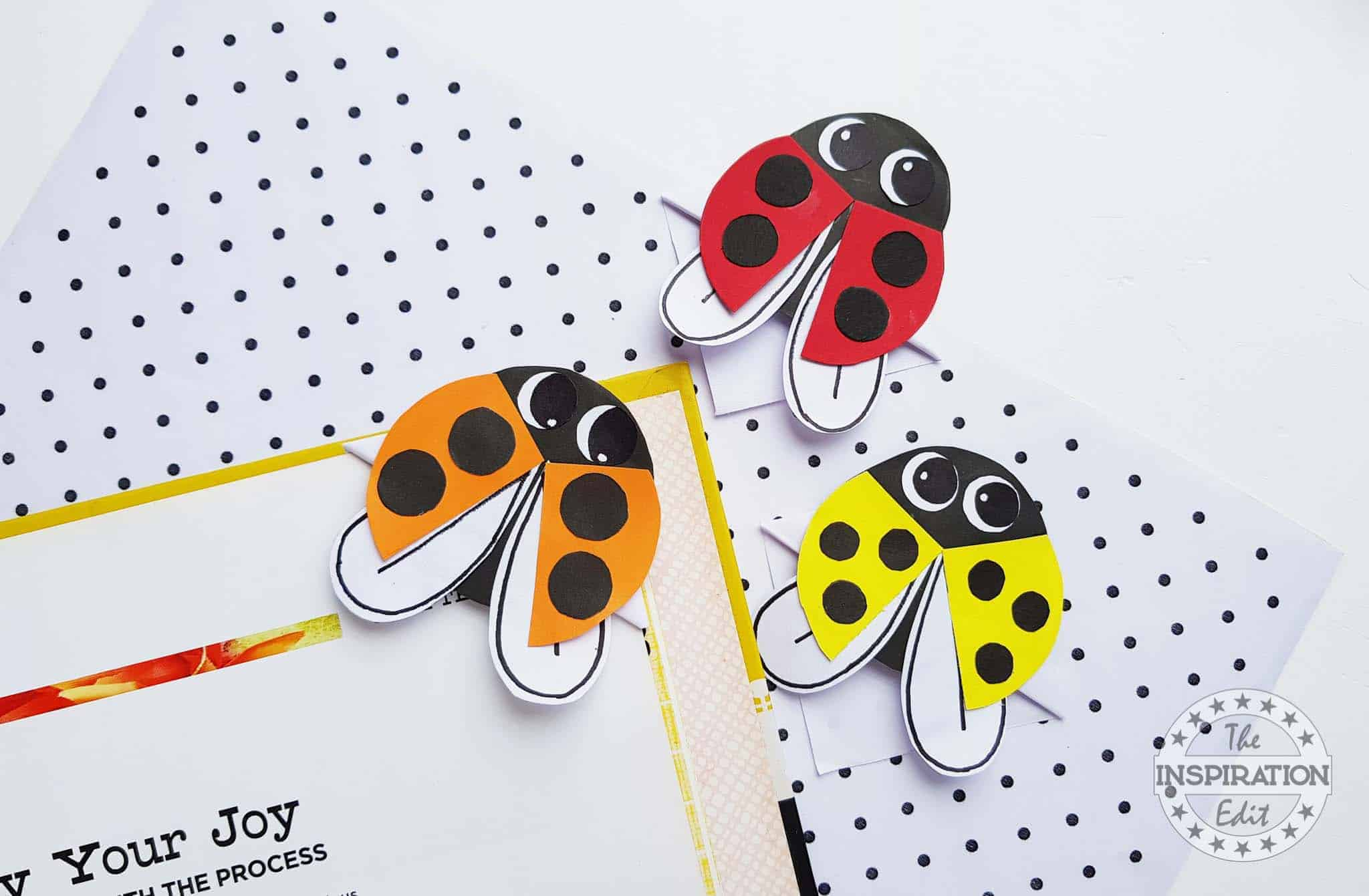 ladybug corner bookmarks