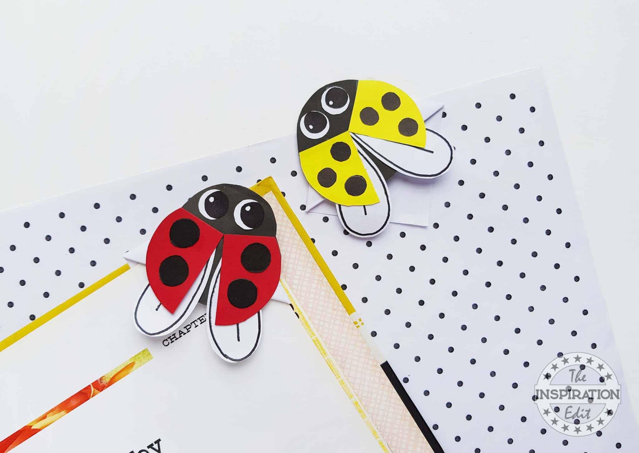 Ladybug Corner Bookmark