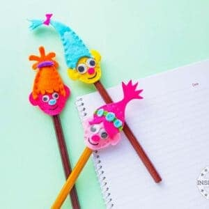 Mini Troll Pencil Toppers