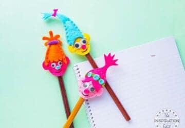 Mini Troll Pencil Toppers