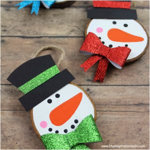 wooden snowman decoration