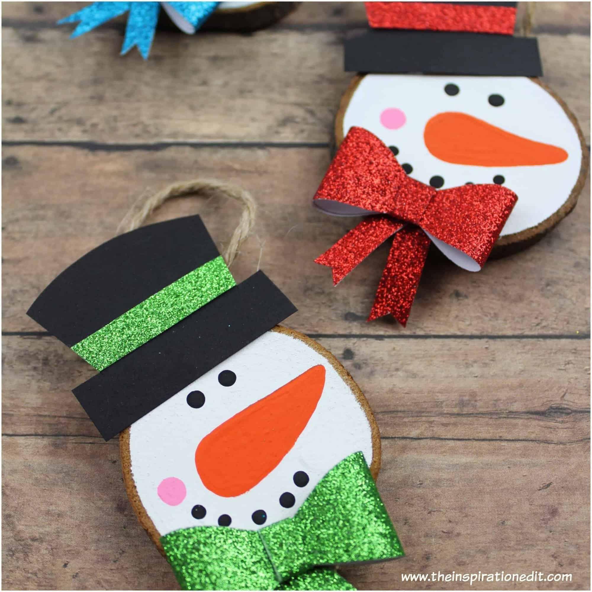 wooden snowman decoration