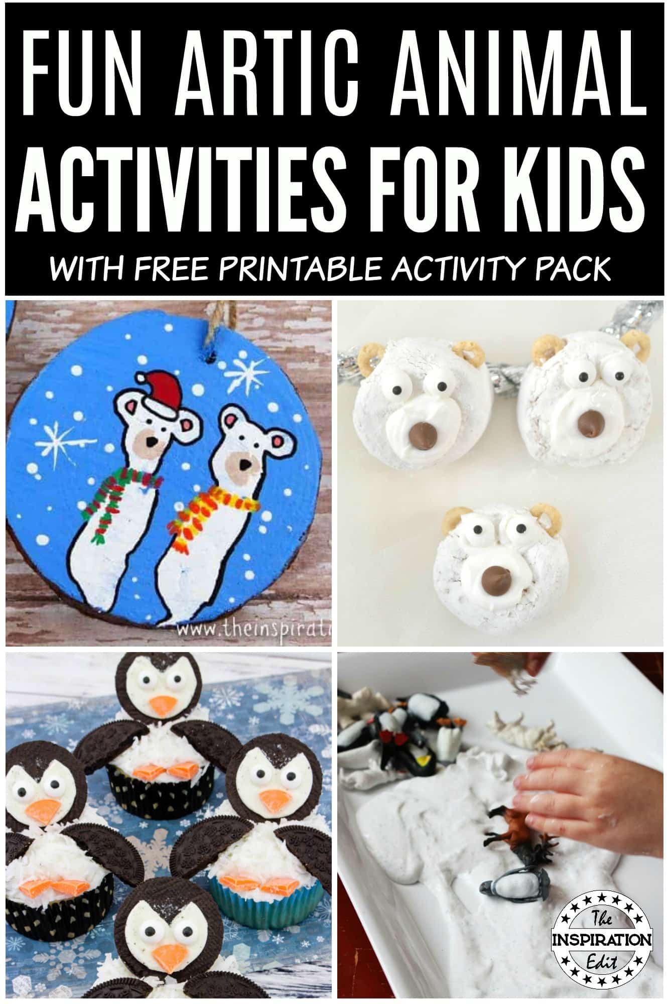 Fun Artic Animals activities for kids to enjoy learning about the artic and polar