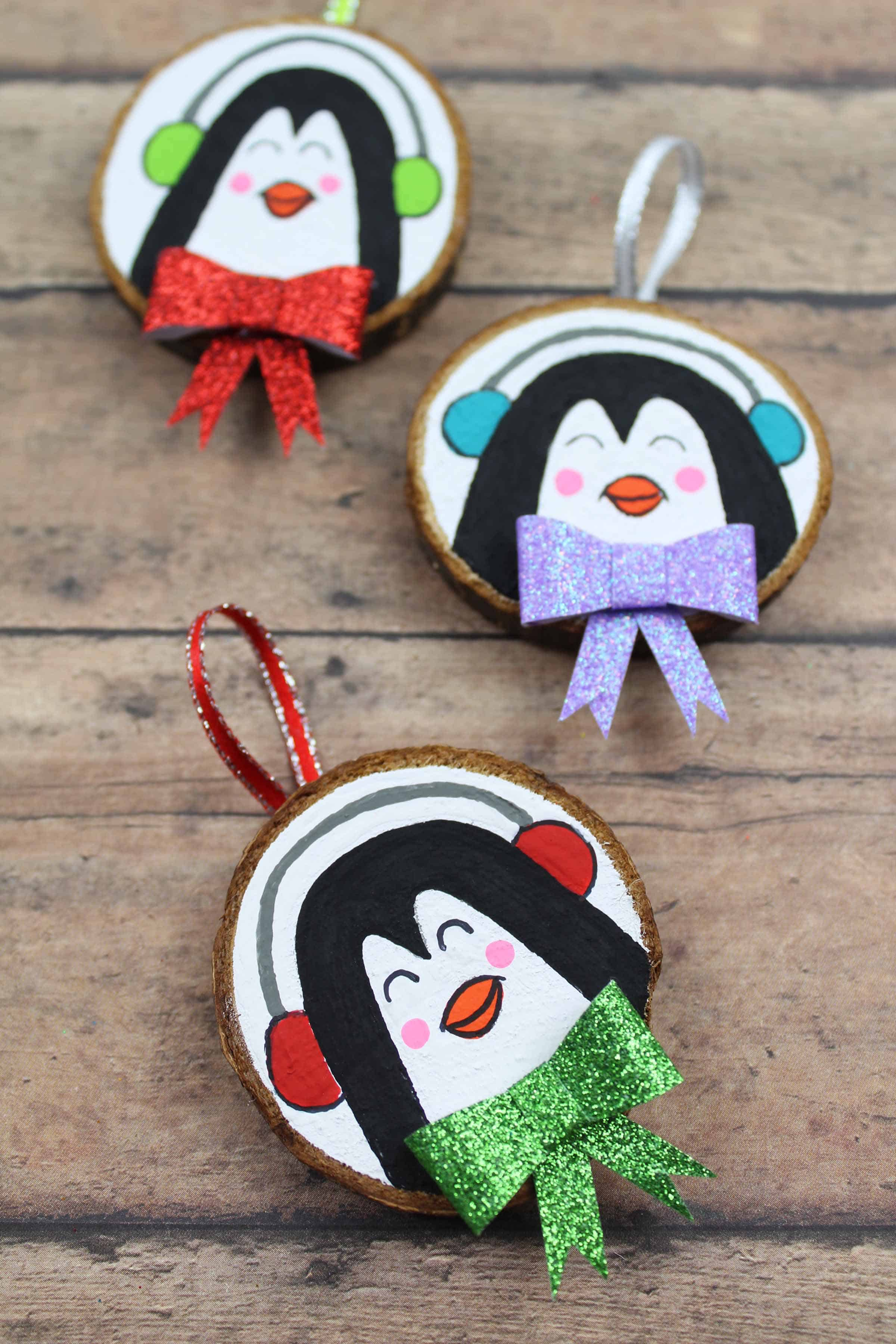 penguin craft for the christmas tree