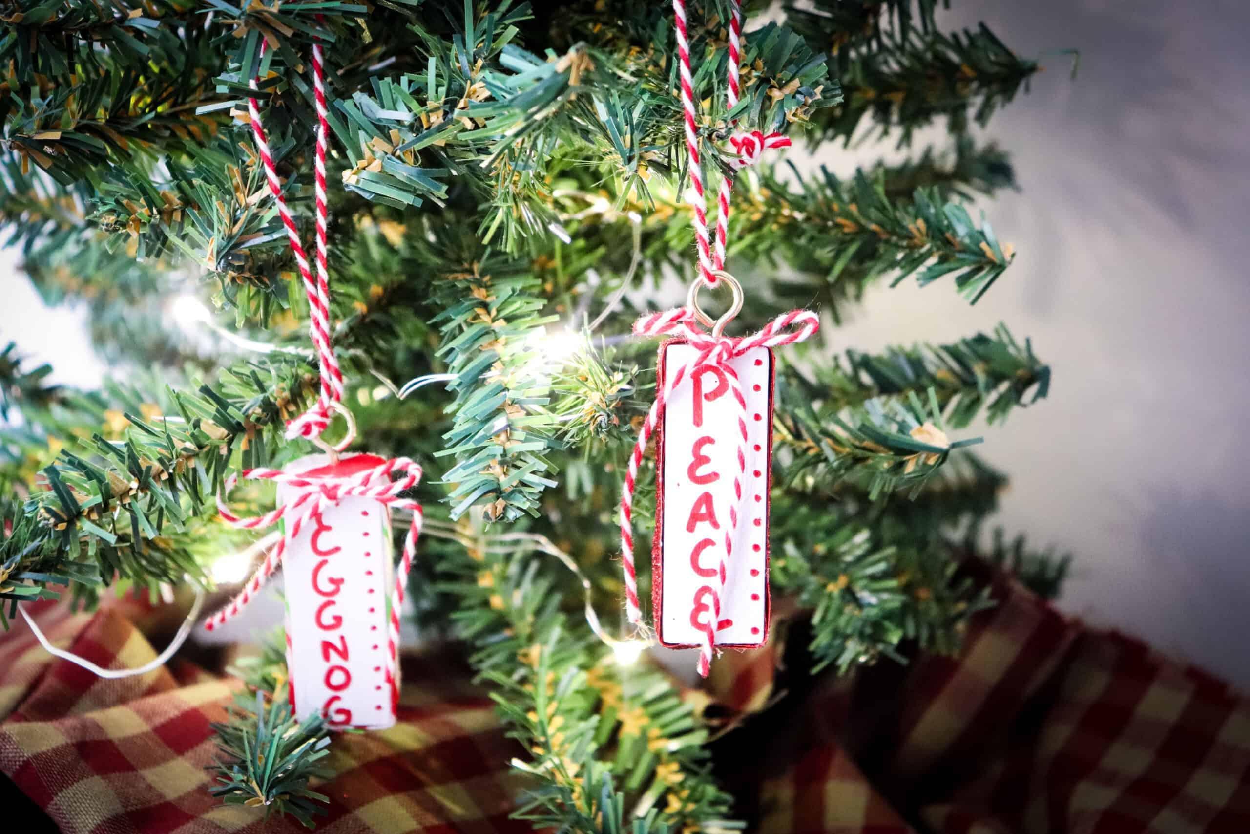 Wooden Jenga Christmas Ornaments