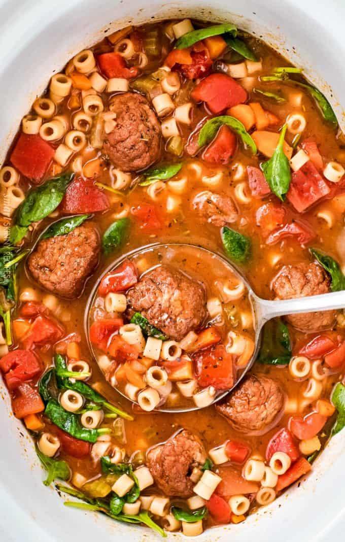 Slow-Cooker-Italian-Meatball-Soup
