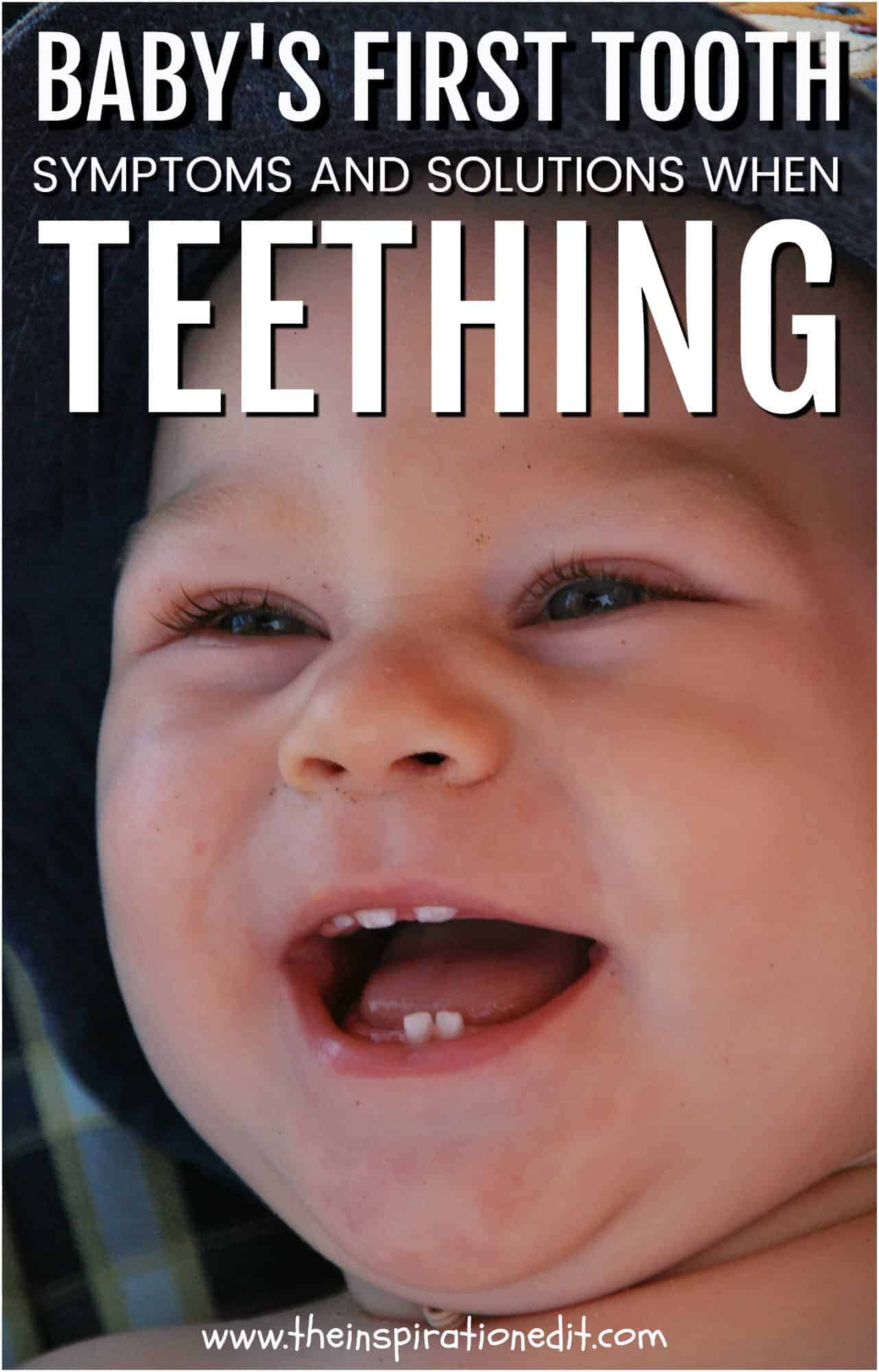 symptoms and solutions when teething, baby teething baby's first tooth