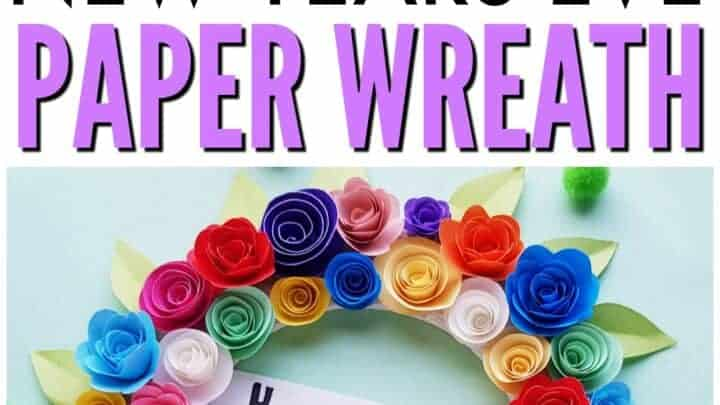 new years paper wreath