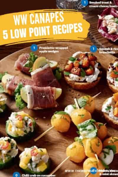 weight watchers canapes