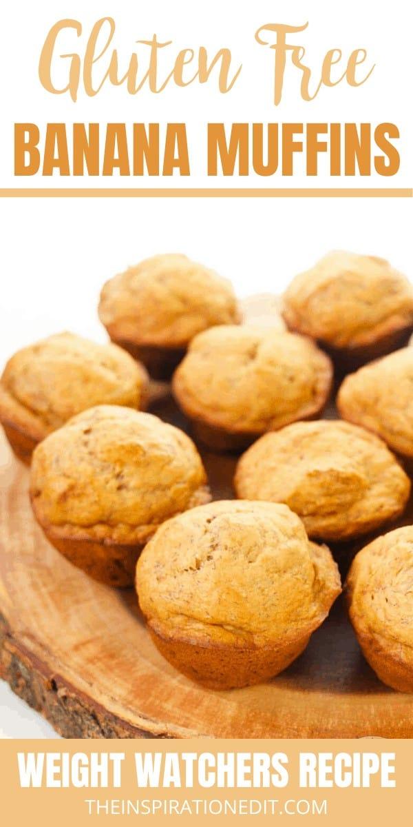 gluten free banana muffins on a plate