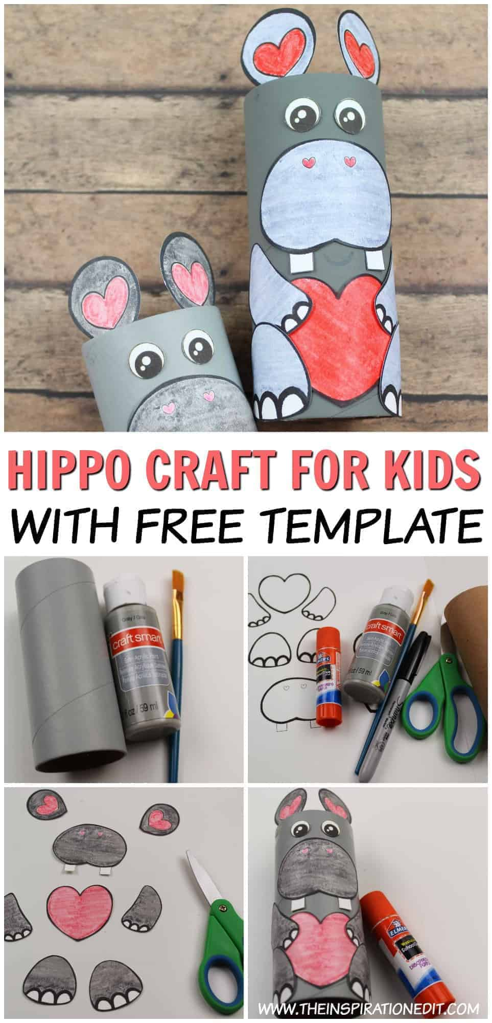 HIPPO CRAFT FOR KIDS