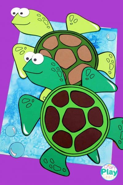 two seaturtles craft