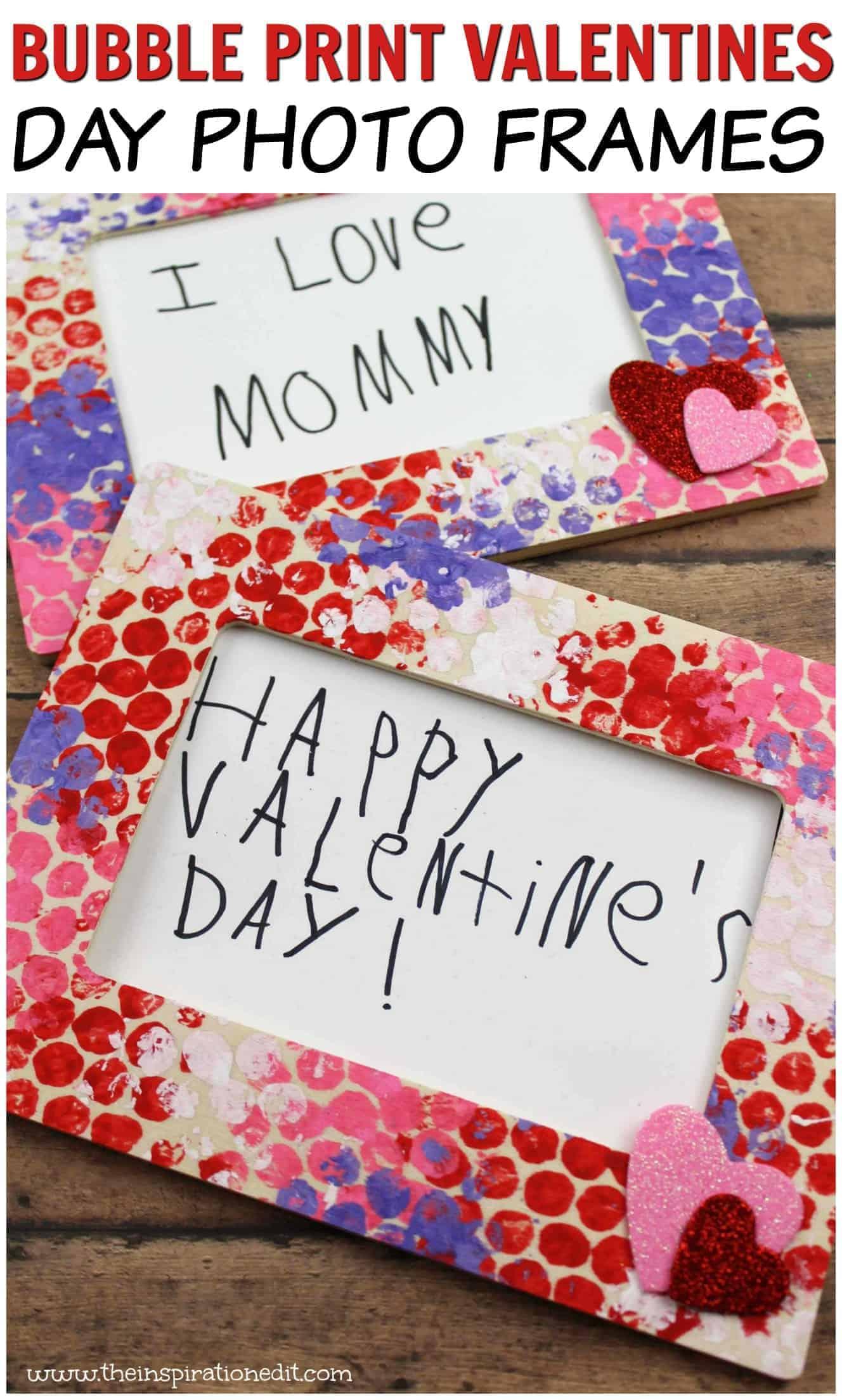 Valentines Bubble Art photo frame