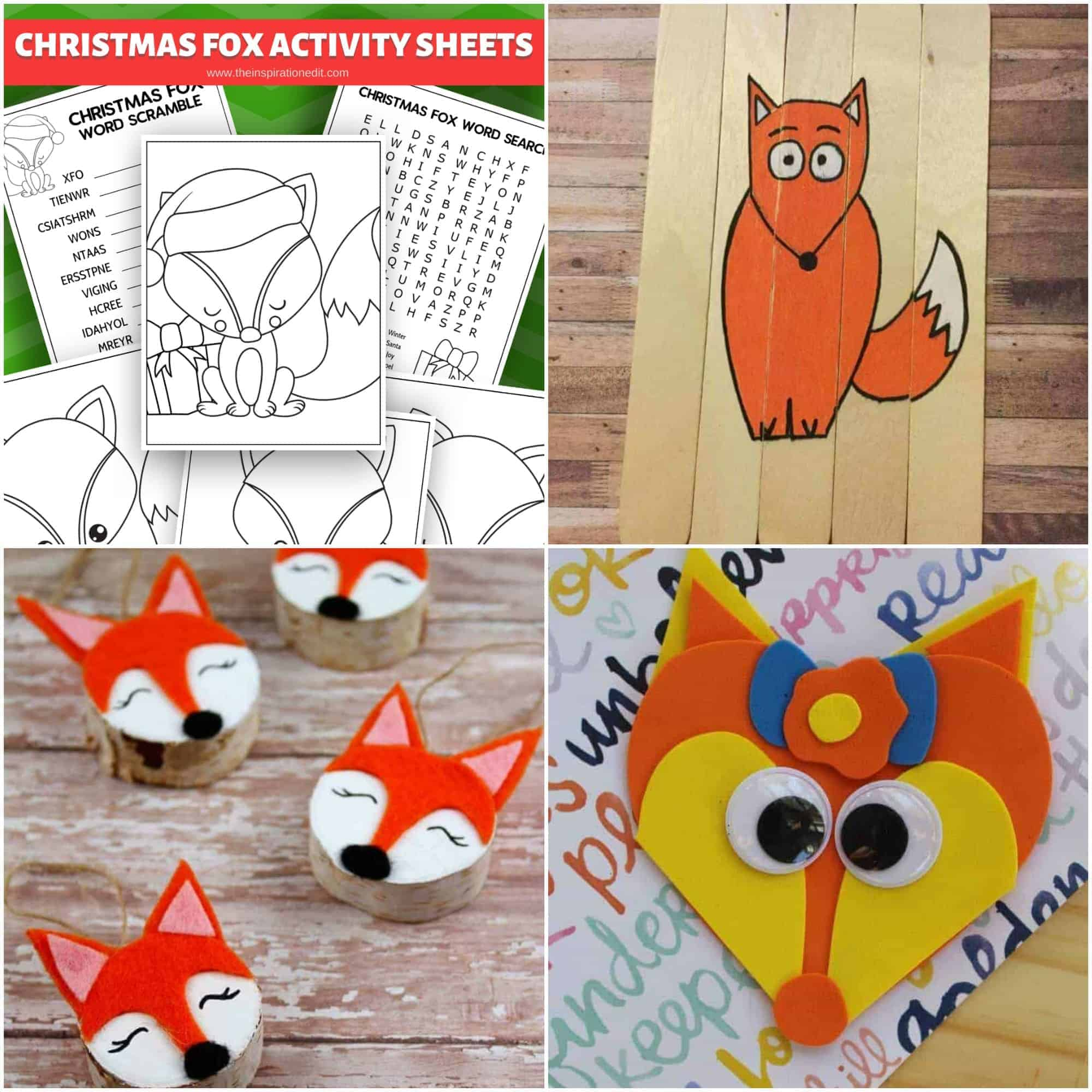 fox activities and coloring pages