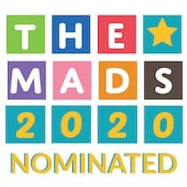 the mads award nominated badge