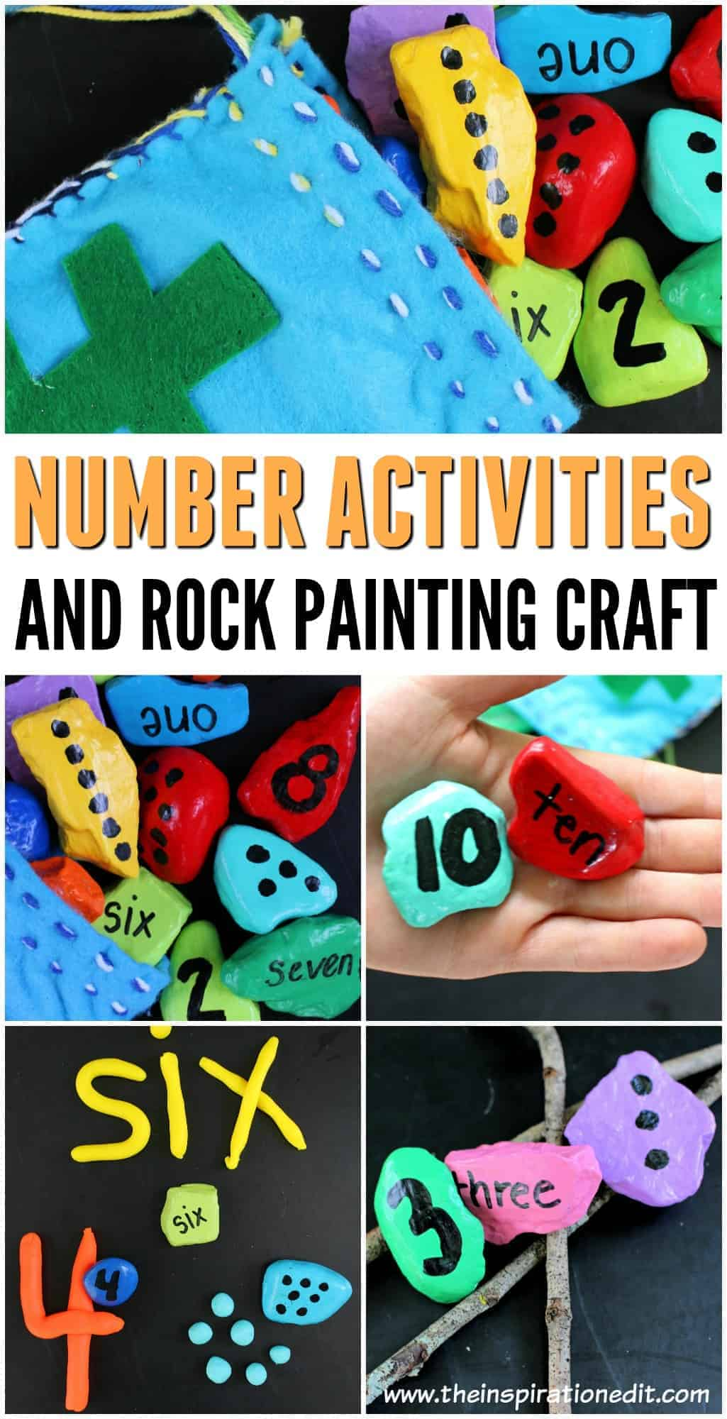DIY Number rocks