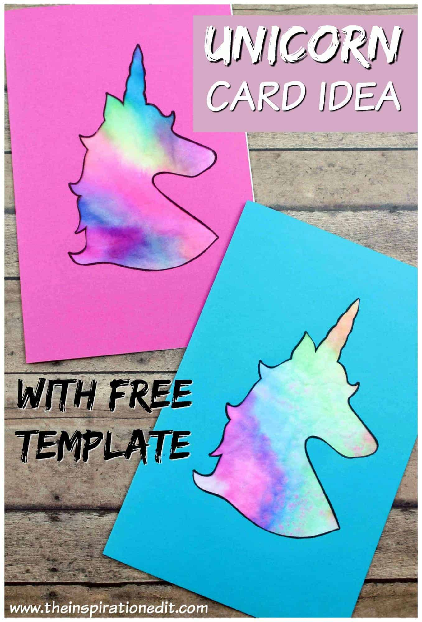 diy unicorn card for valentines day