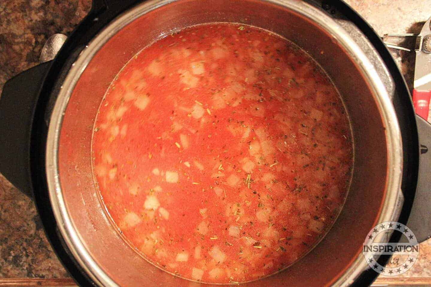 tomatoes into the instant pot