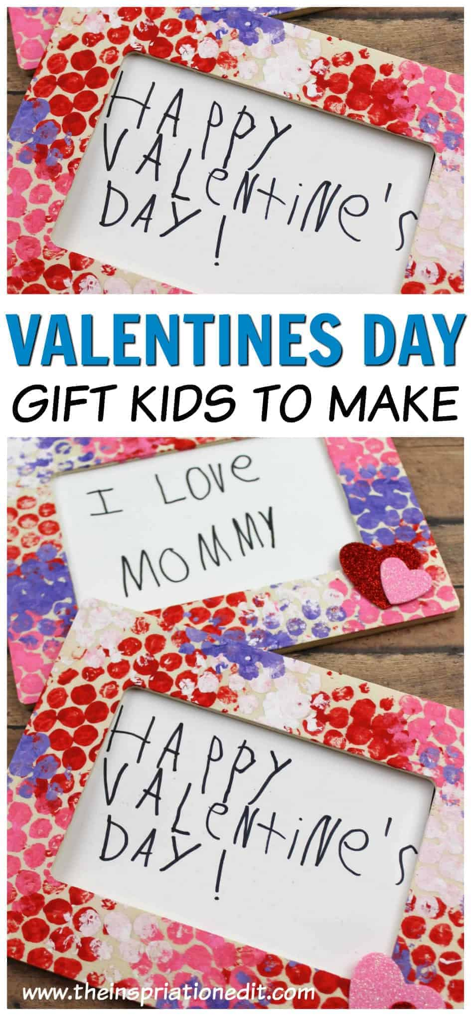 valentines day photo frame made with bubble wrap printing