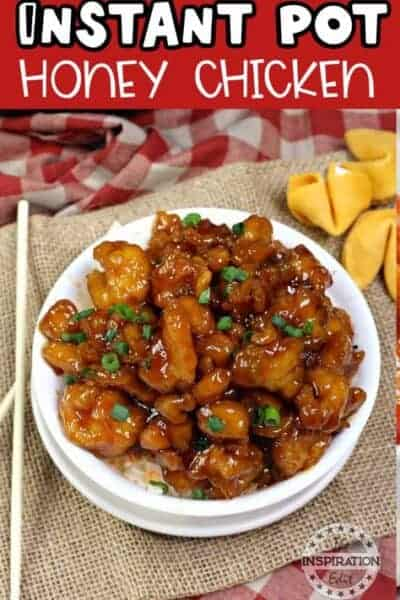 instant pot. honey chicken