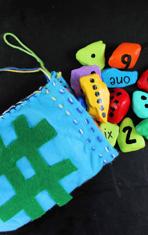 number rocks for preschool