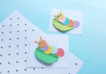 super cute paper caterpillar craft