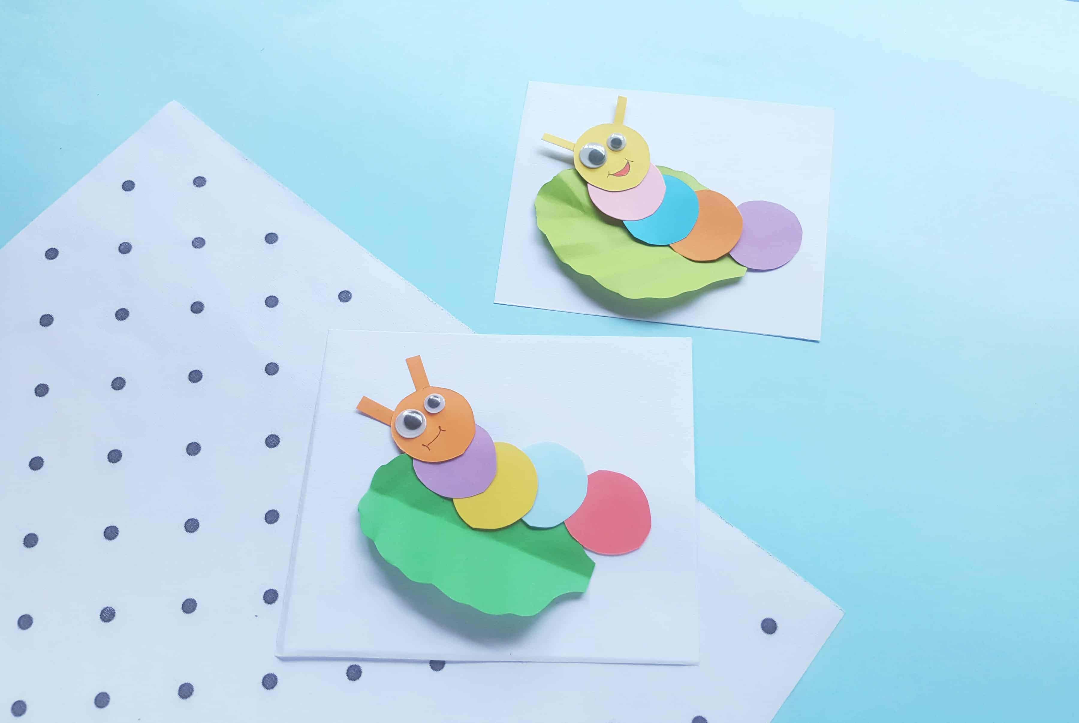 super cute paper caterpillar craft
