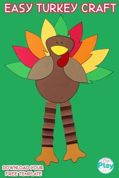 easy thanksgiving turkey craft for kids