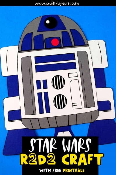 r2d2 crafts and cut out activity