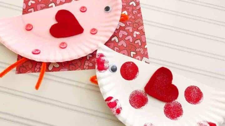 valentines paper plate craft
