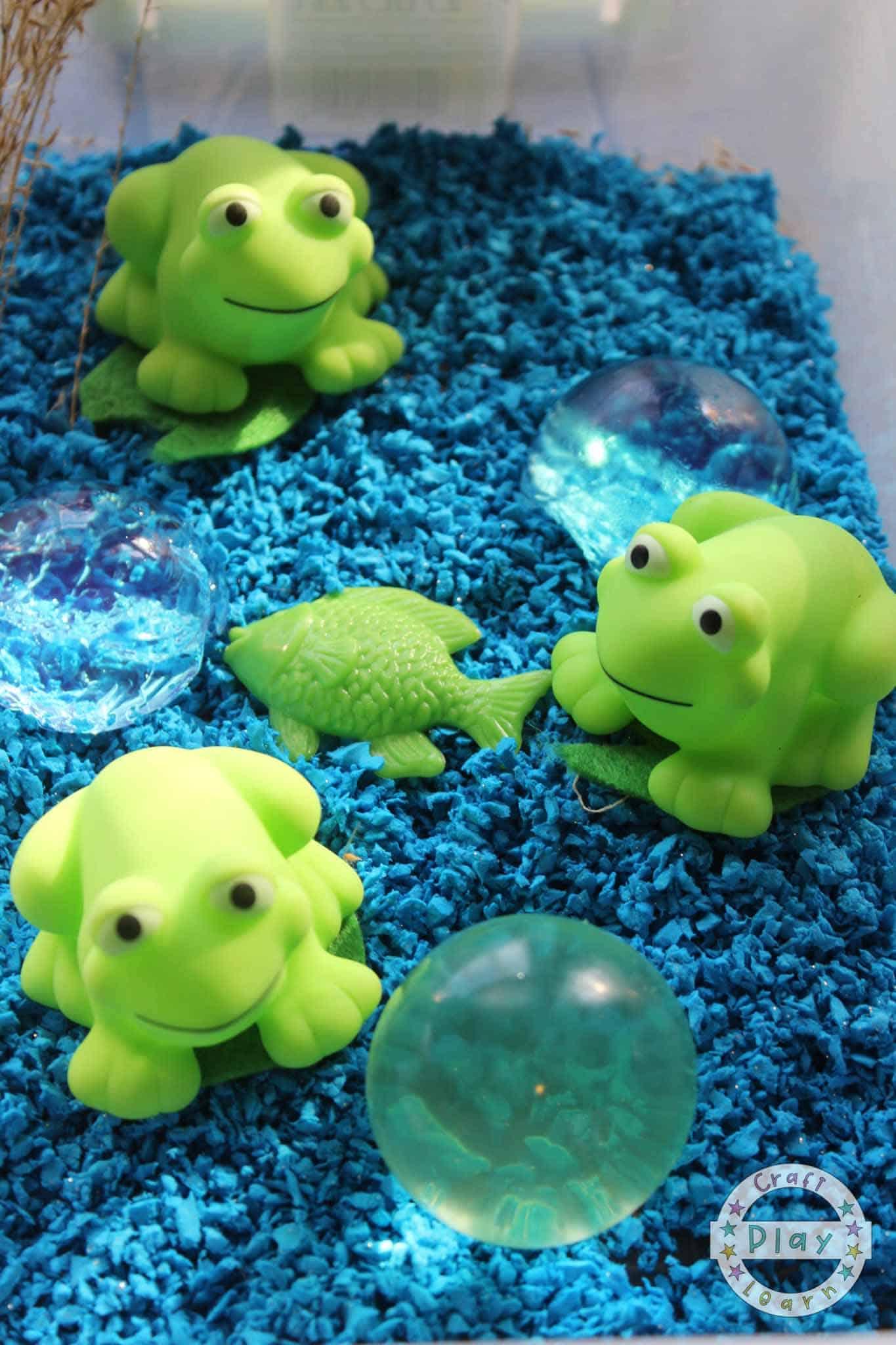 frog sensory activity for preschool kids