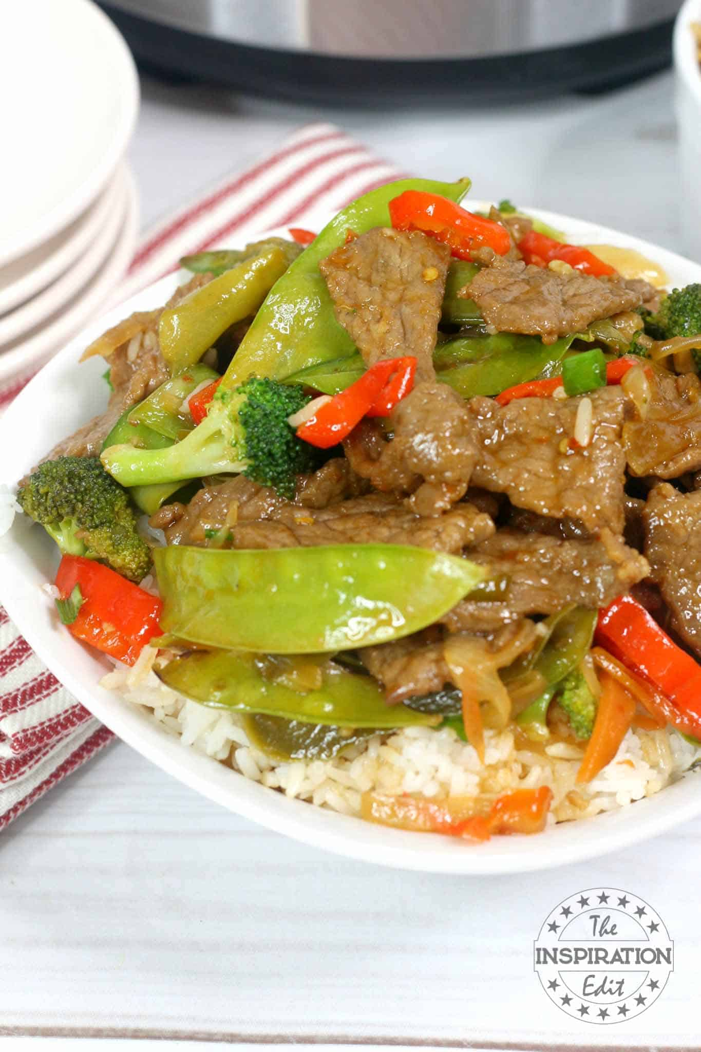 Instant Pot Stir Fry Beef Using Flank Steak