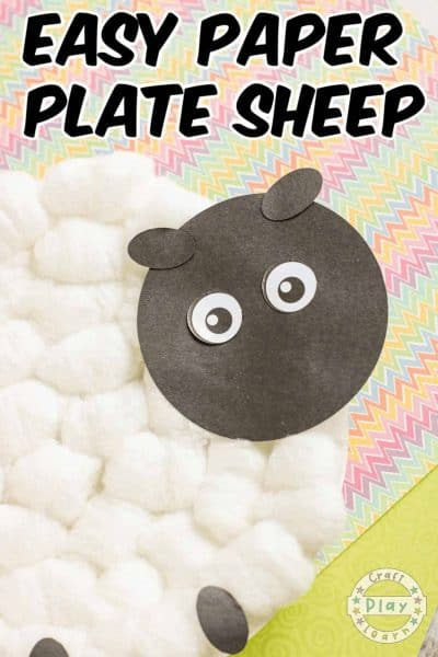 spring sheep paper plate craft