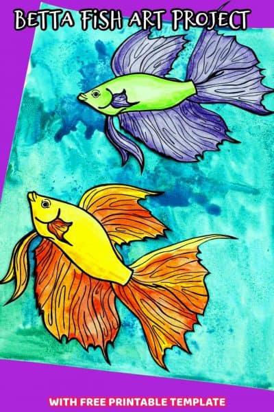 betta fish art project for preschool kids