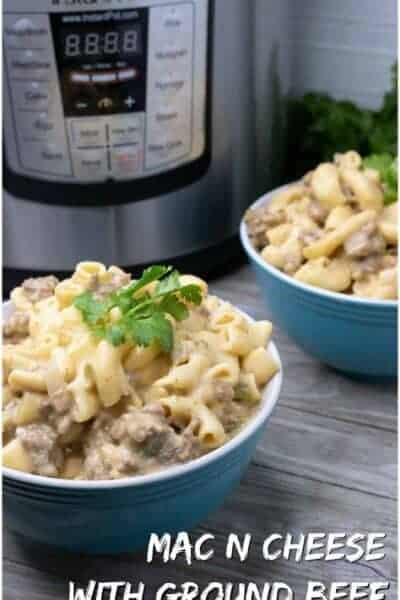 instant pot mac and beef