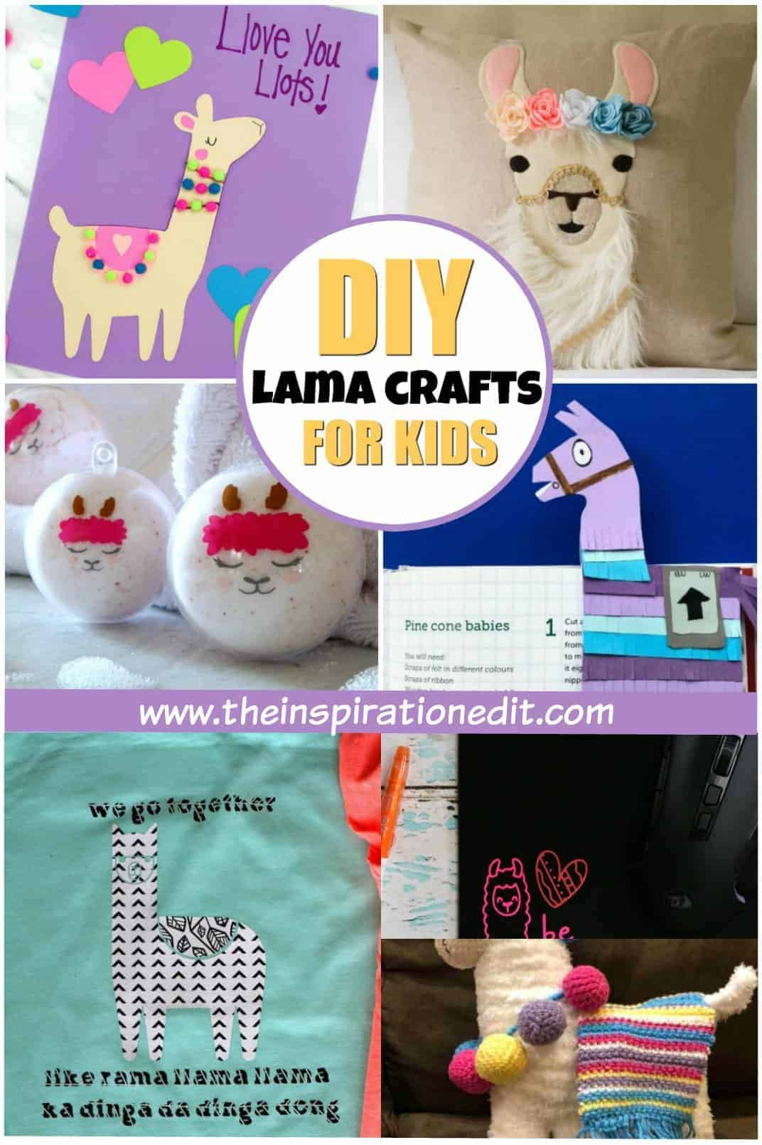 lama crafts for kids