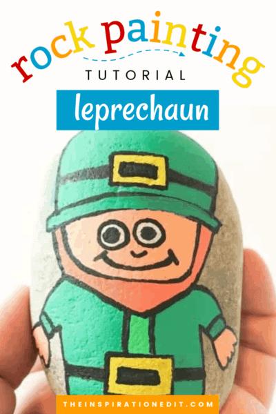 leprechaun painted rock