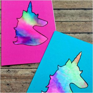 unicorn card for kids to make