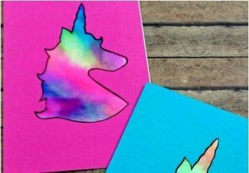 unicorn card for kids to make