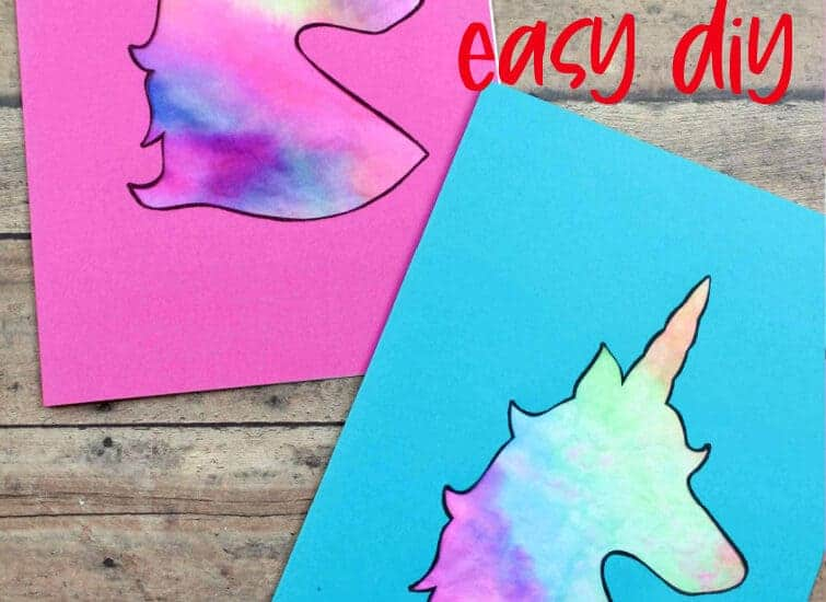 unicorn tie dye cards