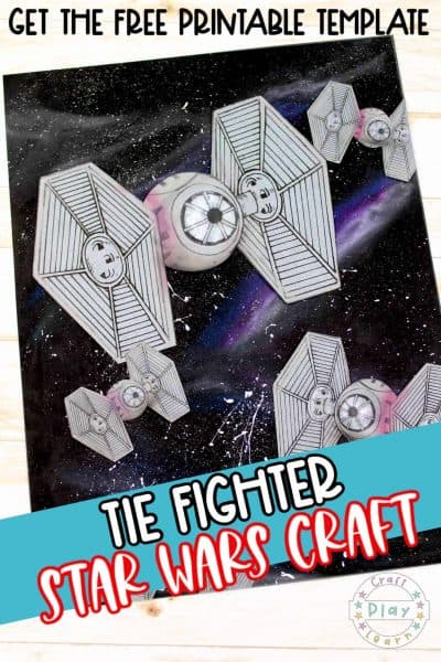 star wars tie fighter drawing and craft