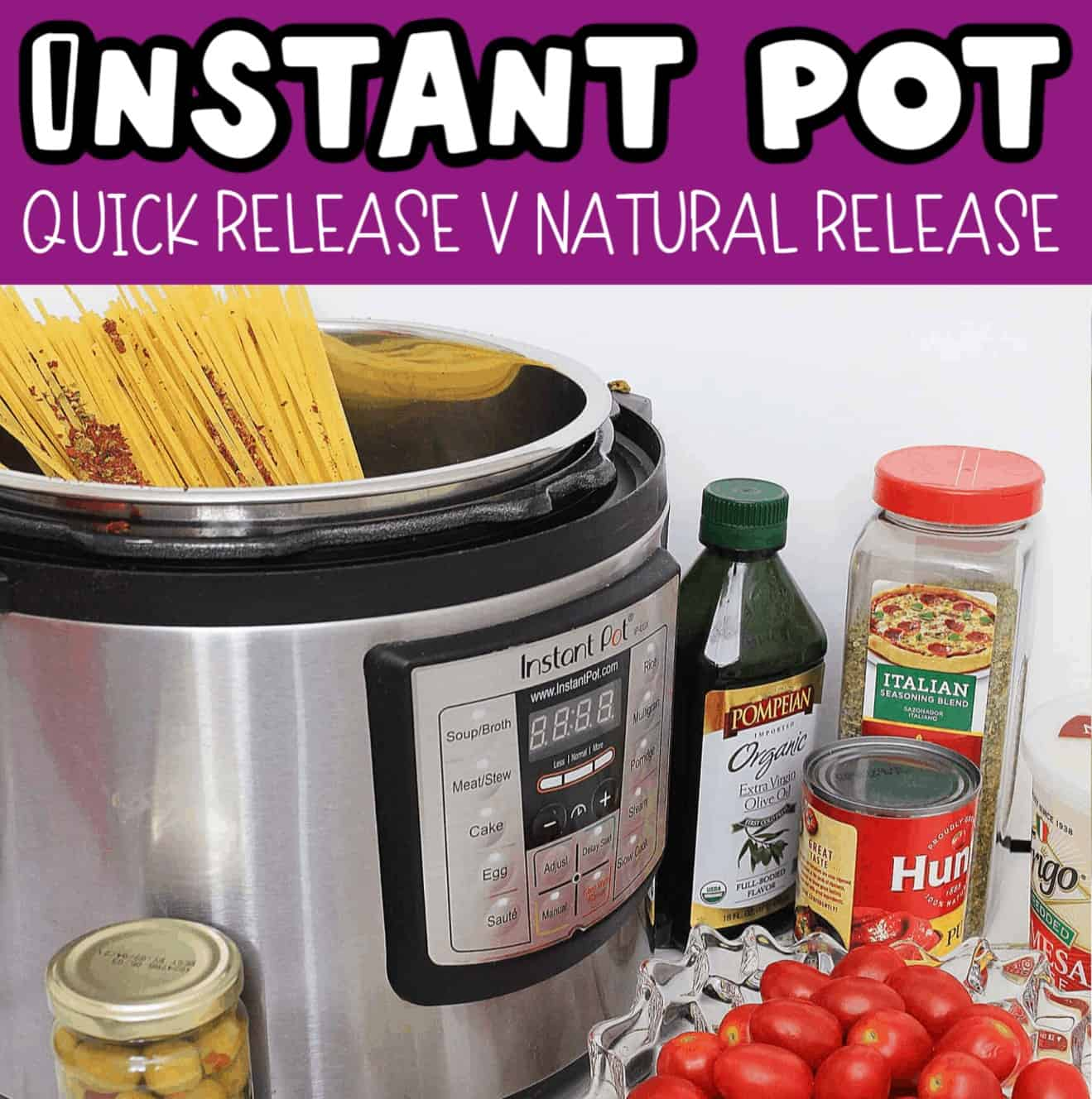 what is quick release instant pot and natural release