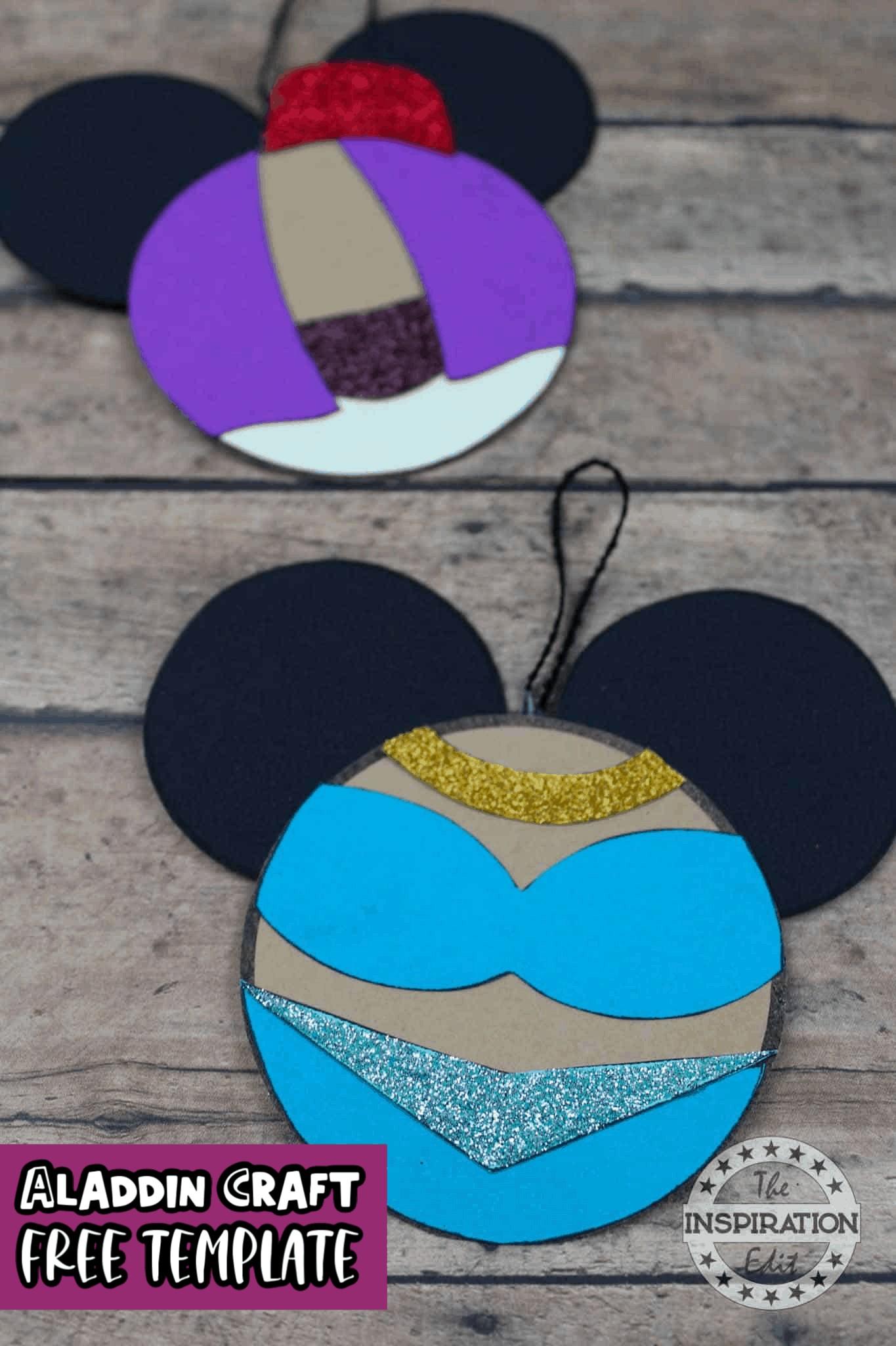 disney aladdin craft princess jasmine and aladdin